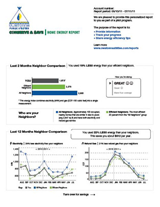 Home Energy Reports Owatonna Public Utilities